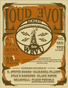 Loud Love WRVU Benefit - April 3rd